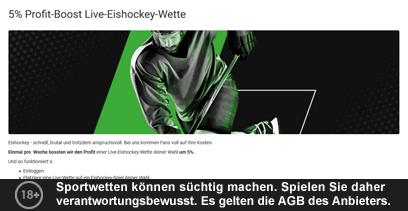 Unibet Gewinn Boost Bonus Eishockey Wetten