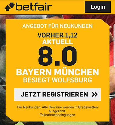 Betfair Quotenboost