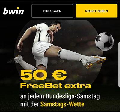 Bwin Bundesliga Samstags-Wette Freebet
