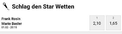 Schlag den Star - Wer gewinnt?