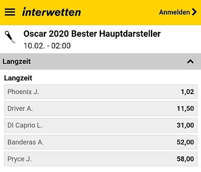 Oscars 2020 – Bester Hauptdarsteller