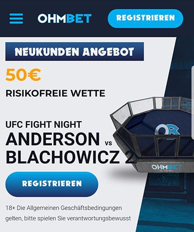 Ohmbet UFC Risikofreie Wette