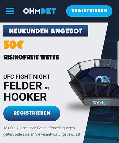 Ohmbet UFC Felder vs Hooker Risikofreie Wette