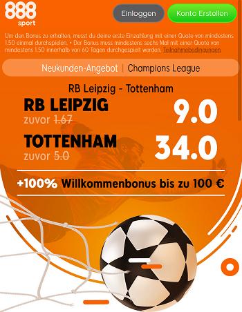 Leipzig Tottenham Quoten