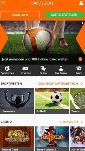 Betsson Homepage
