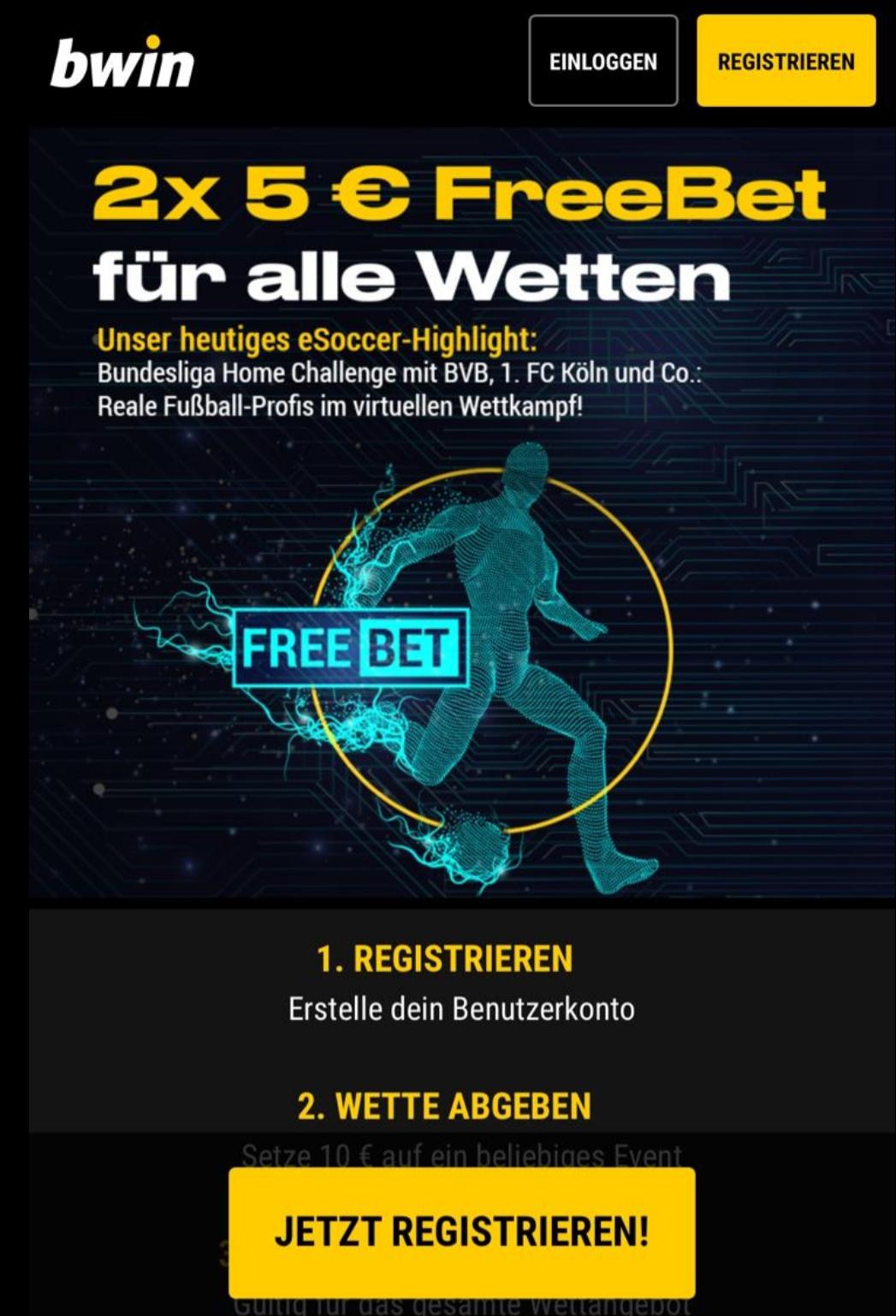 Bundesliga Home Challenge Bwin Freebet