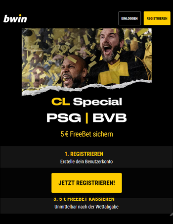 Bwin Bonus für PSG vs BVB