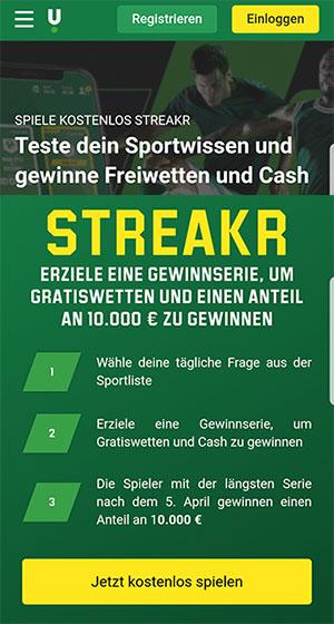 Unibet Streakr