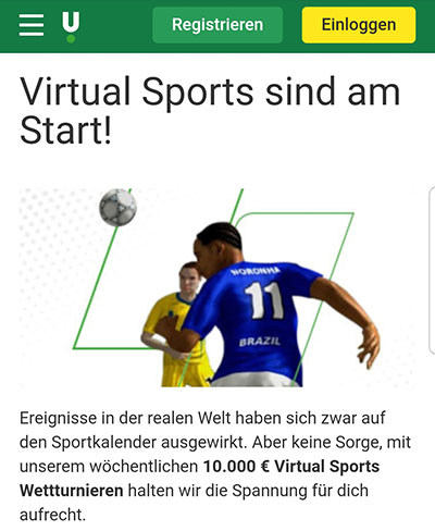 Virtual Sports Jackpot Unibet