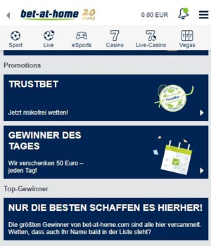 Bet at home Bonus für Bestandskunden