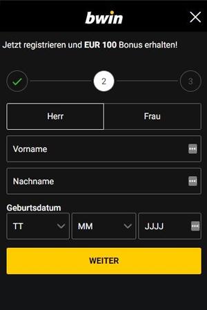 Bwin Registrierung