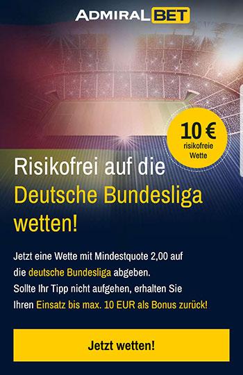 Admiralbet Bundesliga risikofreie Wette