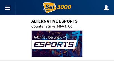Bet3000 eSports Wetten