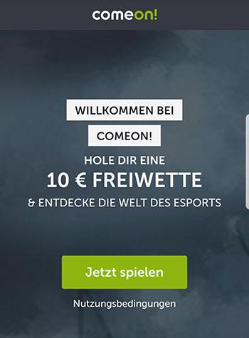 ComeOn eSports Freiwette
