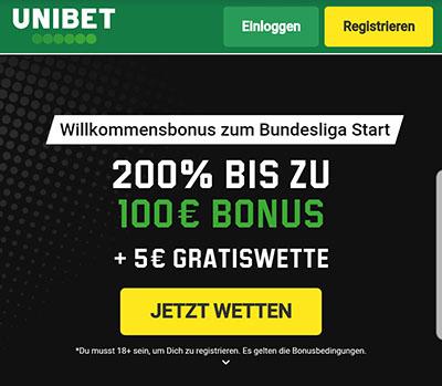 Unibet Bundesliga Bonus