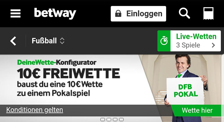 Betway DFB-Pokal Freebet