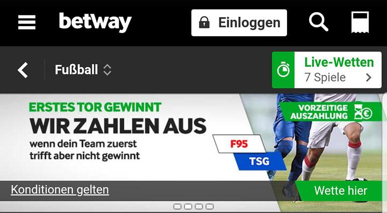 Betway Cashout Duesseldorf vs Hofenheim