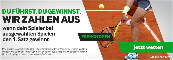 Betway French Open Cashout