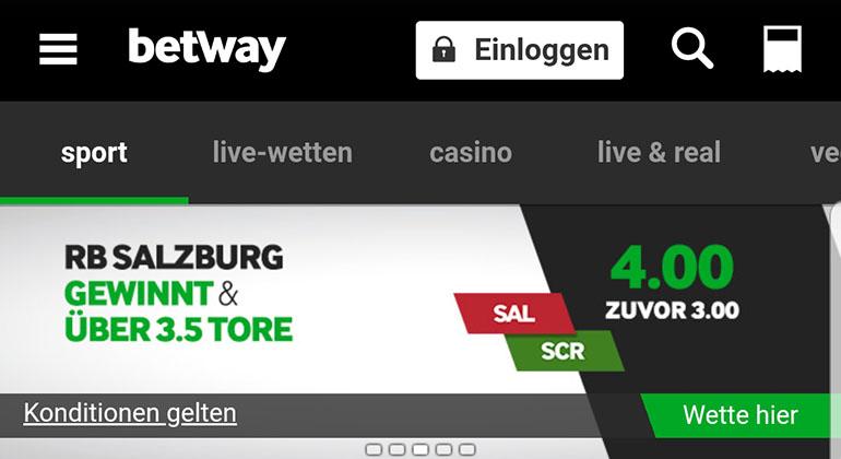 Betway Quotenboost Salzburg vs Rapid