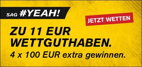 Interwetten 11€ Wettguthaben