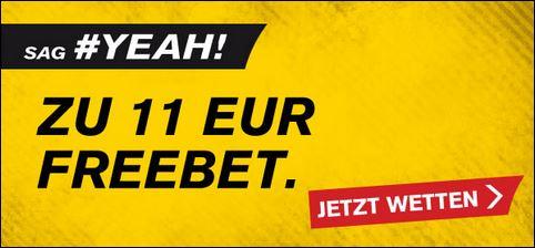 Interwetten 11€ Freebet