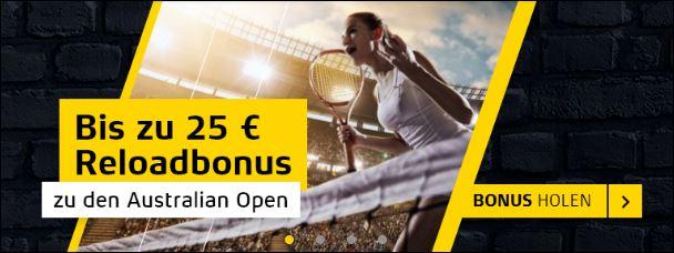 Merkur Sports Australian Open Reload Bonus
