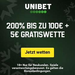 Unibet Bonus + Gratiswette