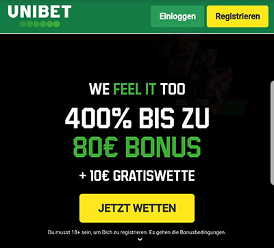 Unibet EM Bonus + Gratiswette