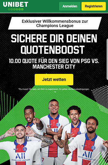 Unibet Quotenboost