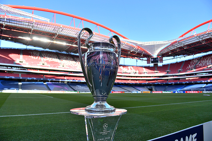 Champions League Pokal (© imago images / Poolfoto / Sven Simon)