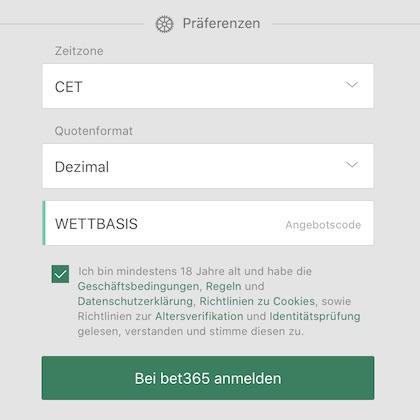 bet365 angebotscode