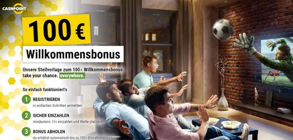 Cashpoint Willkommensbonus
