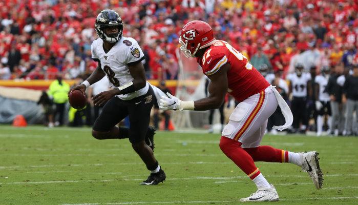 Topspiel in der NFL: Baltimore Ravens empfangen KC Chiefs