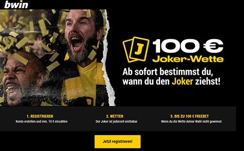 Bwin 100 € Joker-Wette