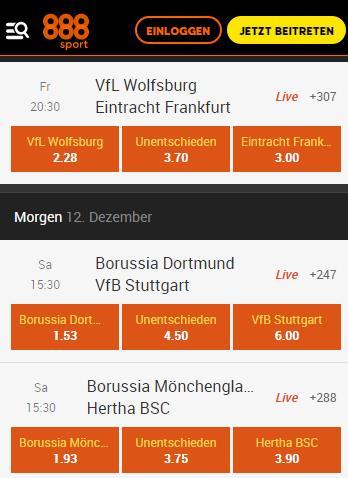 Bundesligawetten 888Sport