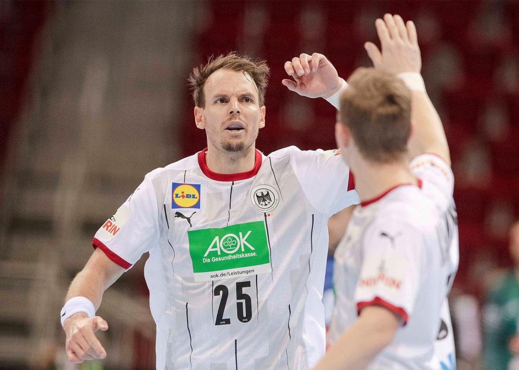 Deutsche Chancen bei der Handball WM 2021: Kai Häfner beim Torjubel