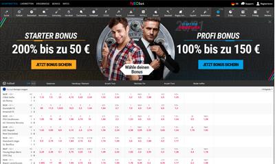 NeoBet Website - Screen