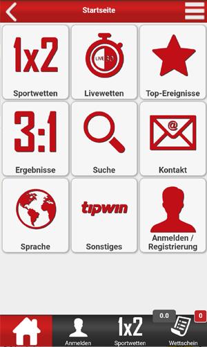 Tipwin auf mobile
