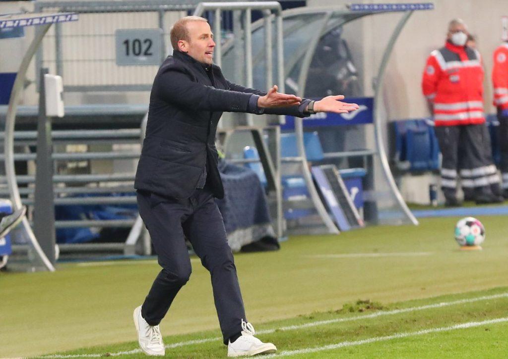 Sebastian Hoeneß, Trainer der TSG Hoffenheim, kämpft gegen die Hertha einmal mehr um seinen Job