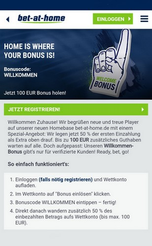 Bet-at-home Willkommens Bonus
