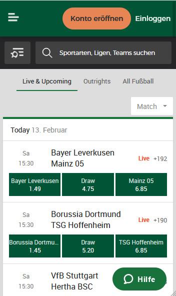 Bundesligawetten Mr Green