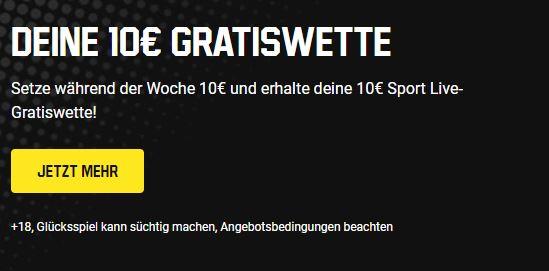 unibet 10 € freebet