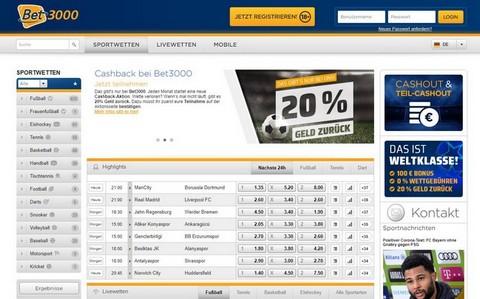 Bet3000 Website