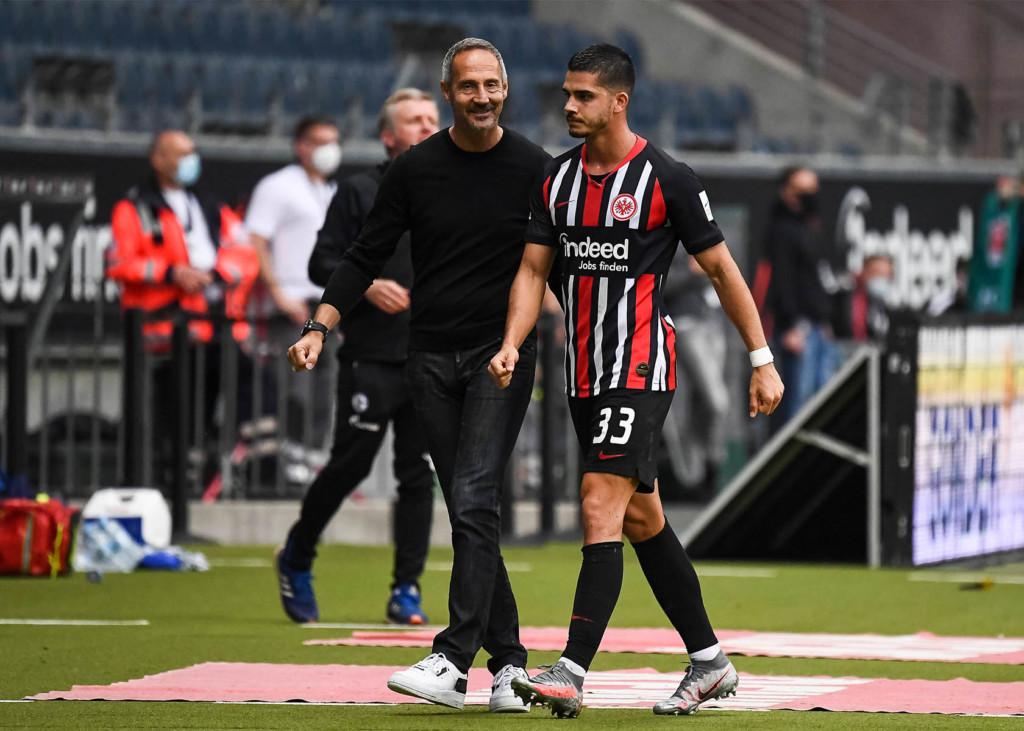 Eintracht Frankfurt mit André Silva und Adi Hütter