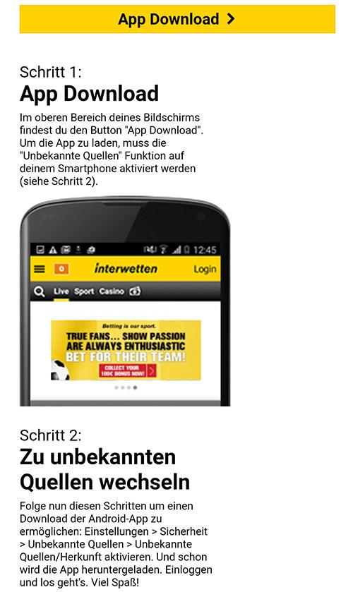 Interwetten App Download