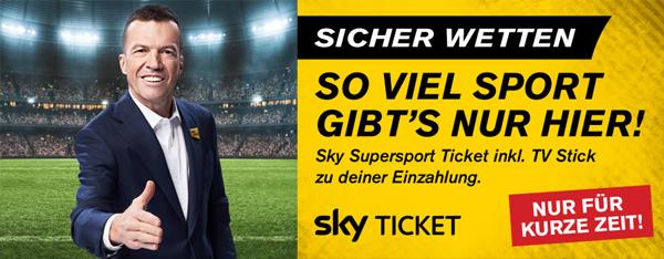 Interwetten Sky Sport Ticket