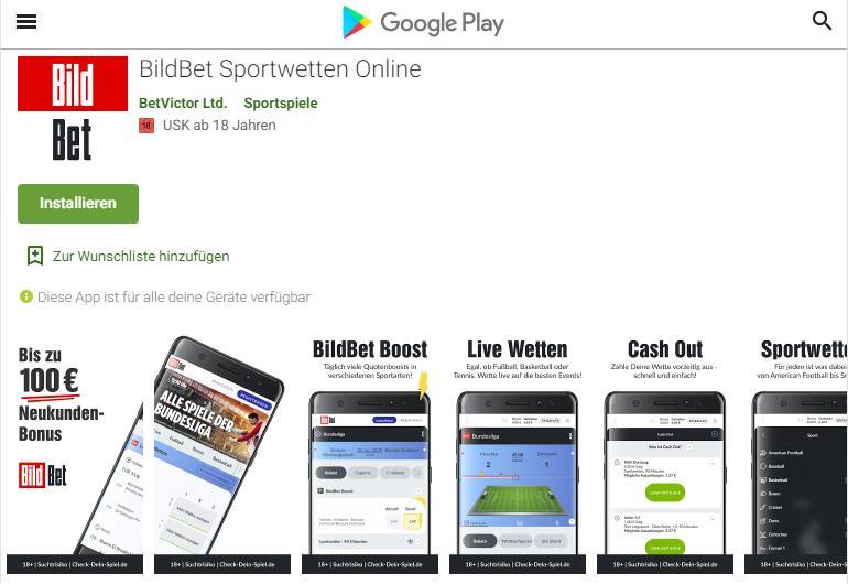 Bildbet Android App