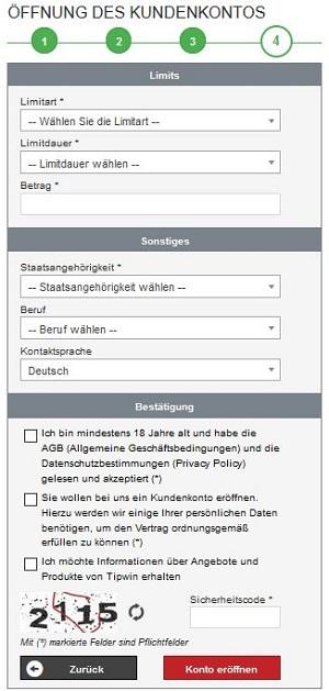 tipwin registrieren
