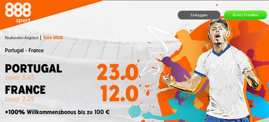 888sport Portugal - Frankreich wetten