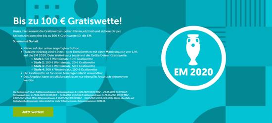 Comeon EM Gratiswetten-Leiter